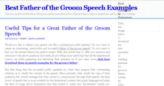 Best Father of the Groom Speech Examples!
