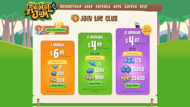 Animal Jam Membership   Online Animal Game For Kid
