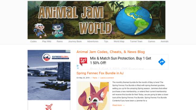 Animal Jam World Blog - Codes, Cheats, Guides & Ne     Updates by