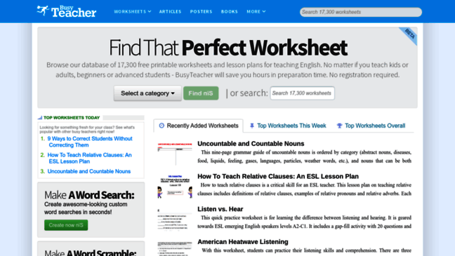 Free Worksheets Free Printable Worksheets For Teachers Free – Free Worksheets for Teachers