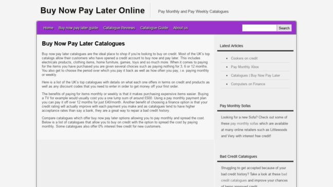 credit catalogues uk buy now pay later pay monthly or