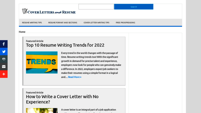 Cover Letters And Resume Samples