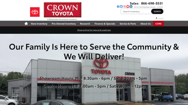 Crowntoyotascion.com Has One Channel Named U0027Crown Toyotau0027.  Crowntoyotascion.com Belongs To Category Automotive. Crown Toyota Scion Is  A Low Traffic Website
