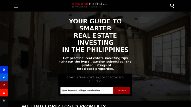 All about foreclosed properties in the Philippines