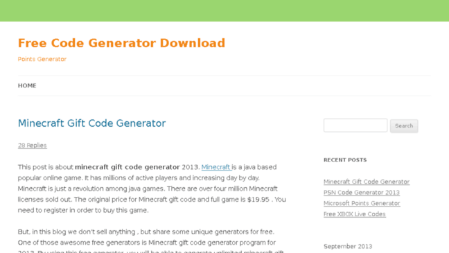 Free Code Generator Download Points Generator Updates By Freecodes Biz