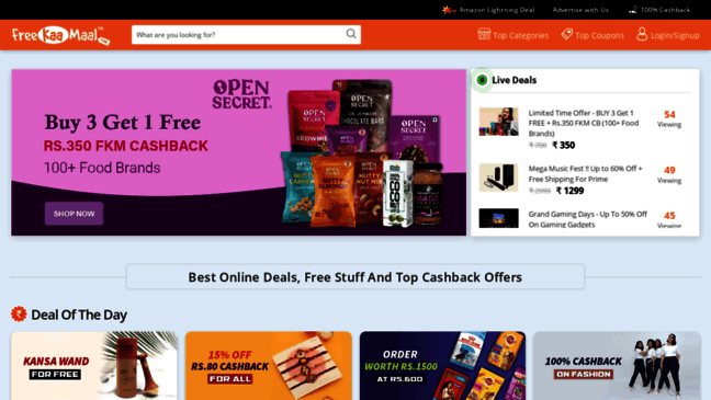 Online Shopping India Best Deals Offers Coupons Updates By Freekaamaal Com