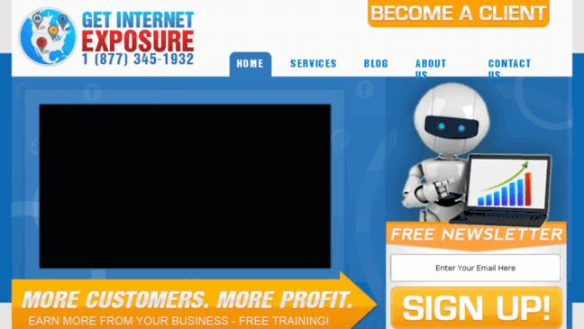 internet exposure Web site design, internet promotions, online shopping, custom applications.