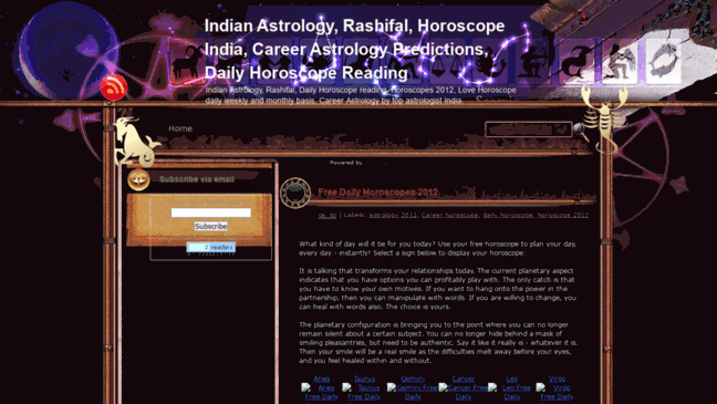 Indian Astrology, Rashifal, Daily Horoscope India