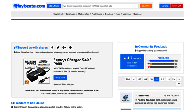 MyBenta ~ Free Classified Ads and Buy & Sell Websi     Updates by