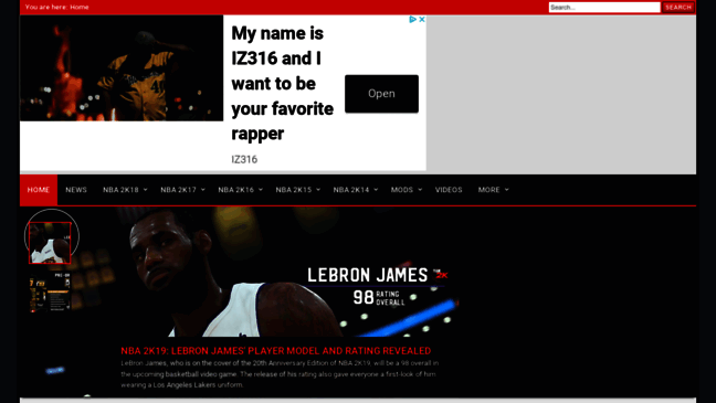 NBA2K ORG: News, Rosters & Mods for NBA 2K Games  Updates by