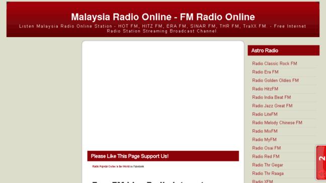 Radio Malaysia Online | FM Radio Online  Updates by