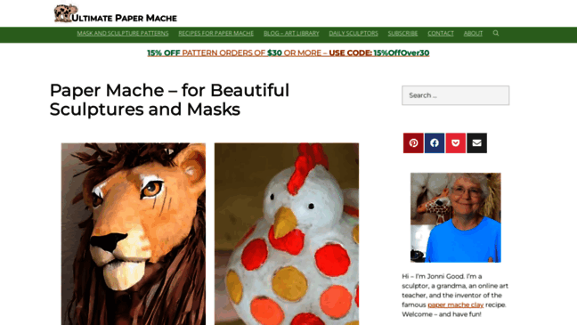 Paper Mache – for Beautiful Sculptures and Masks |     Updates by