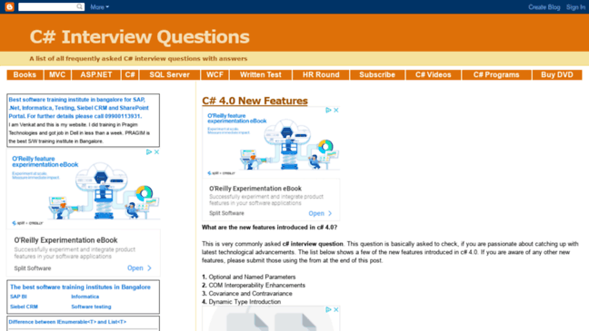 C# Interview Questions  Updates by venkatcsharpintervie