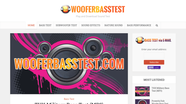 Woofer and Bass Test – Play and Download Sound Tes