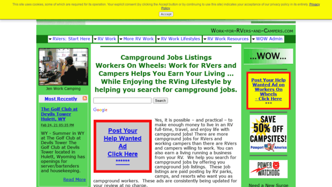 Workers On Wheels >> Workers On Wheels Work For Rvers And Campers J Updates By