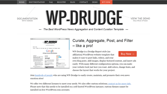 WordPress Curation and Aggregation Theme   WP-Drud.... Updates by ...